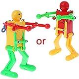 JAGENIE Plastic Clockwork Dancing Robot Kids Wind-Up Toy Home Decor Children Party Prop Birthday Festival Gift Educational Toy
