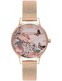 OLIVIA BURTON オリビアバートン 腕時計 ENCHANTED GARDEN MD ROSE GOLD MESH OB16FS91 [並行輸入品]