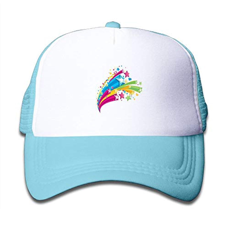 カラフル 星 素敵 かわいい おもしろい ファッション 派手 メッシュキャップ 子ども ハット 耐久性 帽子 通学 スポーツ