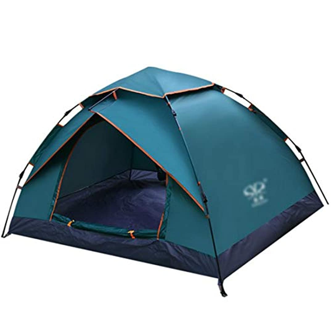 のど豆ナインへNekovan 2人丈夫なキャンプテント自動インスタントポップアップバックパッキングテント超軽量防水のためのキャンプ旅行、日よけ、蚊 (色 : Dark green)