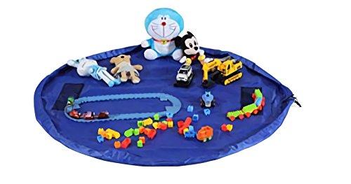 Nowest (ノウェスト) おもちゃマット レゴマット おもちゃ 収納袋 特大サイズ 片づけ簡単 (特大, ブルー)