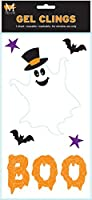 Mello Smello Halloween Ghost and Bats Decorations Gel Window Clings [並行輸入品]