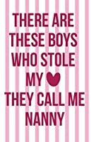 There Are These Boys Who Stole My They Call Me Nanny: Nanny Notebook Journal Composition Blank Lined Diary Notepad 120 Pages Paperback Gold Dots