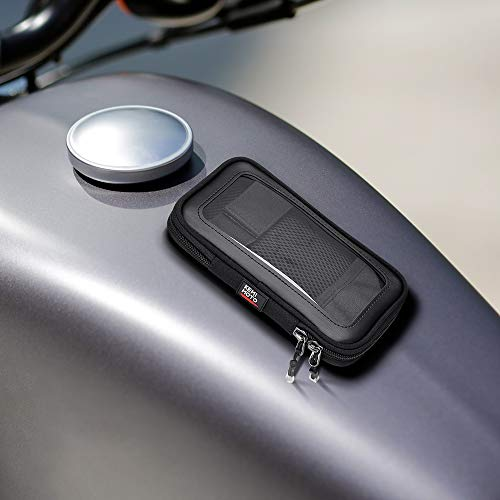 バイク タンクバッグ スマホバッグ KEMIMOTO 8枚の磁石内蔵 タッチパネル対応 収納便利 iPhone/iPhone plus用 ヤマハ・ハーレー・ホンダ・スズキ・カワサキ 汎用