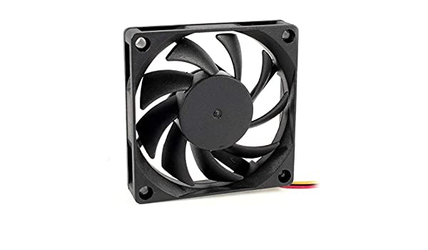 70x70mm 12V 3-Pin PC Computer Case CPU DC Brushless Cooler Fan Black ED