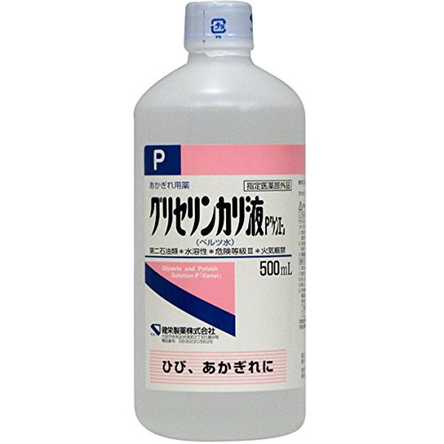 バター交換可能位置する健栄製薬 グリセリンカリ液 ベルツ水 500ml
