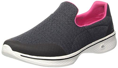 スケッチャーズ(SKECHERS) ウィメンズ GOwalk 4 - Diffuse(BLACK/PINK) 14937-BKHP BKHP 23.0cm