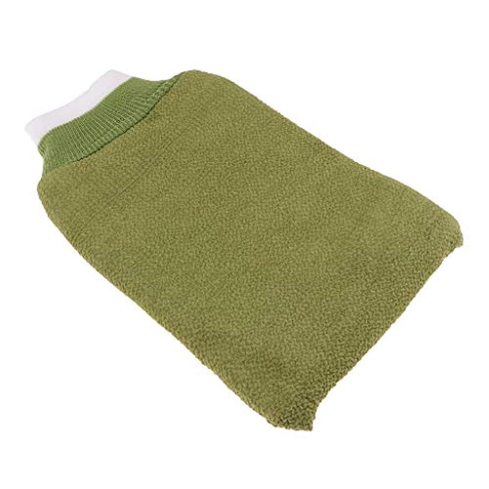 出版警告分離するdailymall お風呂手袋 シャワーグローブ 垢すり手袋 毛穴清潔 角質除去 泡立ち バスグローブ 浴用手袋 全3色 - 緑