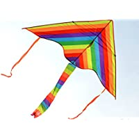 Supershopping 1m Rainbow Kite Toys for Kids Outdoor Sports that Easy to Fly