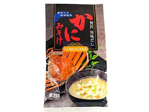 かにみそ汁 6袋入り (蟹肉入で風味絶品) 贅沢旨みだし 蟹の即席味噌汁 お手軽なのに本格派カニミソ汁 粉末みそしる