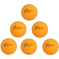 「ノーブランド品」6個 国際公認球 練習用 ピンポン 卓球ボール ビール ポン ボール イエロー