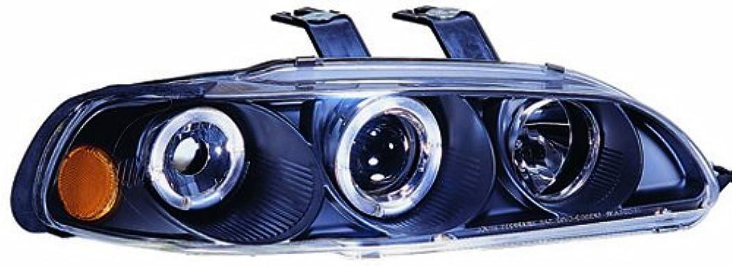 体現する宿不愉快にIPCW CWS-720B2 Honda Civic 1992 - 1995 Head Lamps, Projector With Rings & Corners Black
