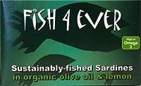 Fish 4 Ever - Sardines In Organic Olive Oil & Lemon - 120g (Case of 10)