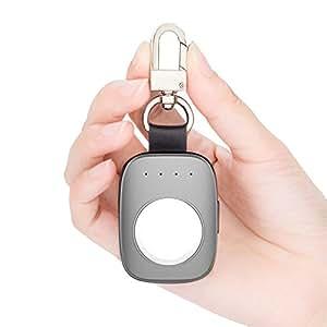 Oittm キーホルダー型Apple Watch用モバイルバッテリー 充電スタンド Apple Watch専門充電器 ポータブル 700mAh アルミニウム製 アップルウォッチ38mm/42mm 対応 (Grey)