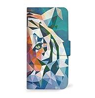 mitas iPhone8Plus ケース 手帳型  幾何学 動物 ポリゴン アニマル E・トラ (250) SC-0225-E/iPhone8Plus