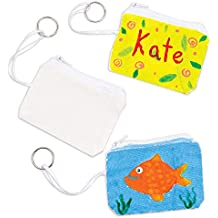 Fabric Pocket-Sized Purse Keyrings for Children - Pack of 6