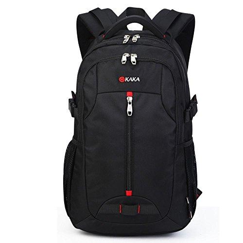 SARATIN 大容量 軽量 リュックサック 旅行 ビジネスバッグ 通勤用 アウトドア バッグパック ブラック KAKA-88002