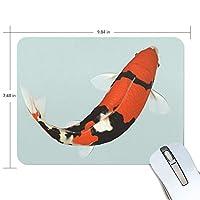 ユキオ(UKIO) マウスパッド おしゃれ 防水 滑り止め かわいい 使いやすい 北欧 赤い 鯉 女性 リストレスト マウス PCアクセサリ 男性