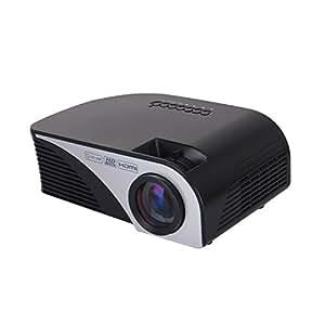 ラマス(RAMASU)LCDプロジェクター 国内メーカー国内検査品 1080PフルHD対応800×480解像度 70ANSIルーメン  パソコン/スマホ/タブレット/ゲーム機接続可能 USB/HDMI/AV/VGAサポート標準カメラ三脚取付可能 RA-P1200