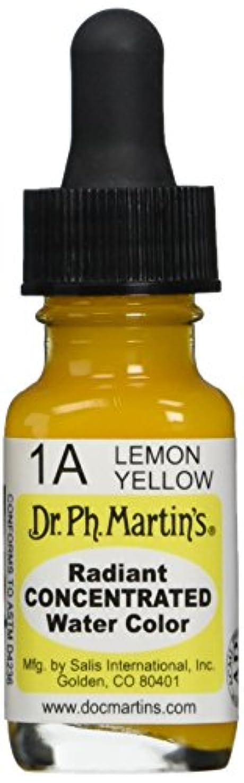 平方クリップ蝶ネイティブDr. Ph. Martin's Radiant Concentrated Water Color, 0.5 oz, Lemon Yellow (1A)