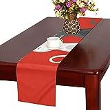 GGSXD テーブルランナー 小柄 赤い猫 クロス 食卓カバー 麻綿製 欧米 おしゃれ 16 Inch X 72 Inch (40cm X 182cm) キッチン ダイニング ホーム デコレーション モダン リビング 洗える