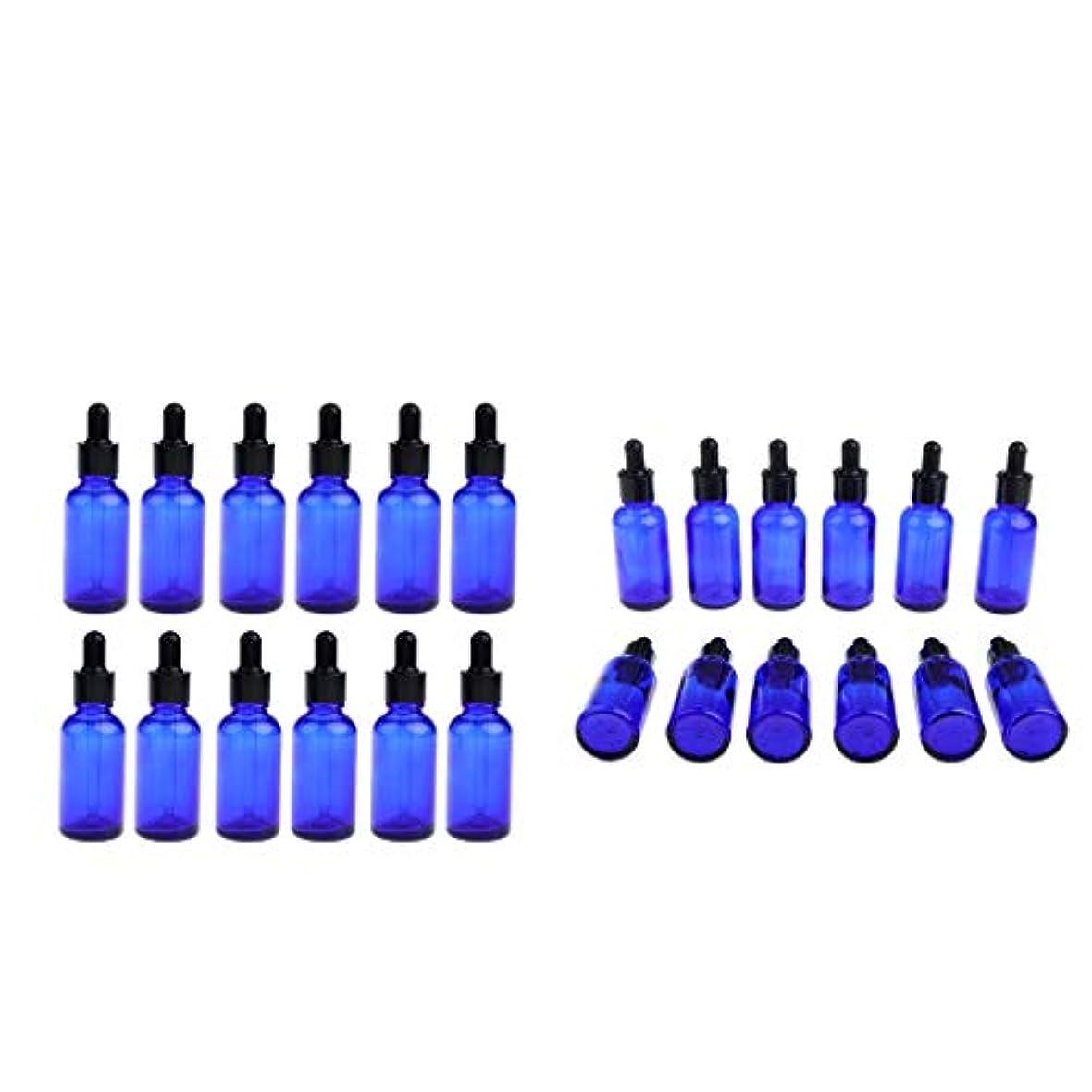 遵守する本部バルコニーdailymall エッセンシャルオイル詰め替え可能な空のドロッパーボトル-24ピースガラスボトルDIYブレンド用品アクセサリー
