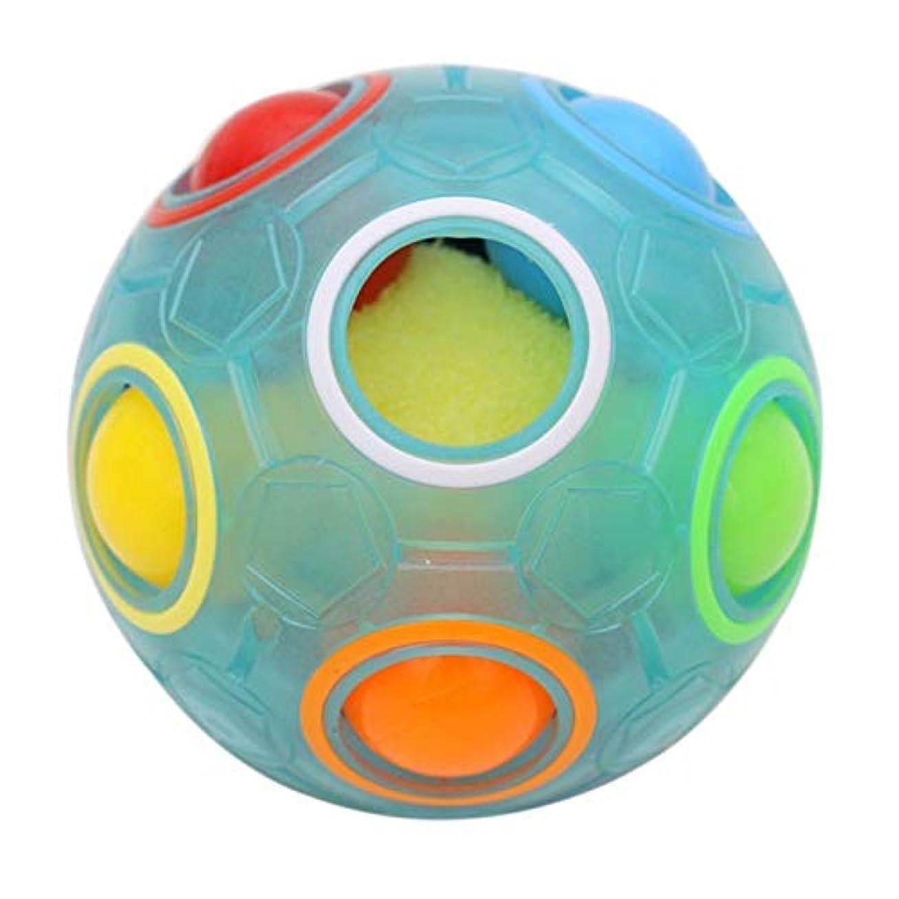 広告主時間請求可能CRRB 子供のおもちゃ解凍ルービックキューブマジックレインボーボールクリエイティブフィンガーサッカーソリッドカラーヌードパズル (Color : B, Size : L)