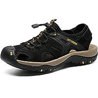 [インボラ] 靴 サンダル メンズ ビーチサンダル 牛革 スポーツサンダル アウトドア 旅行 防滑 速乾 夏 ブラック 0DBF30 26.0cm