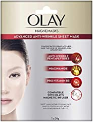 Olay Magnemasks Advanced Anti-aging Sheet Mask, 24 g