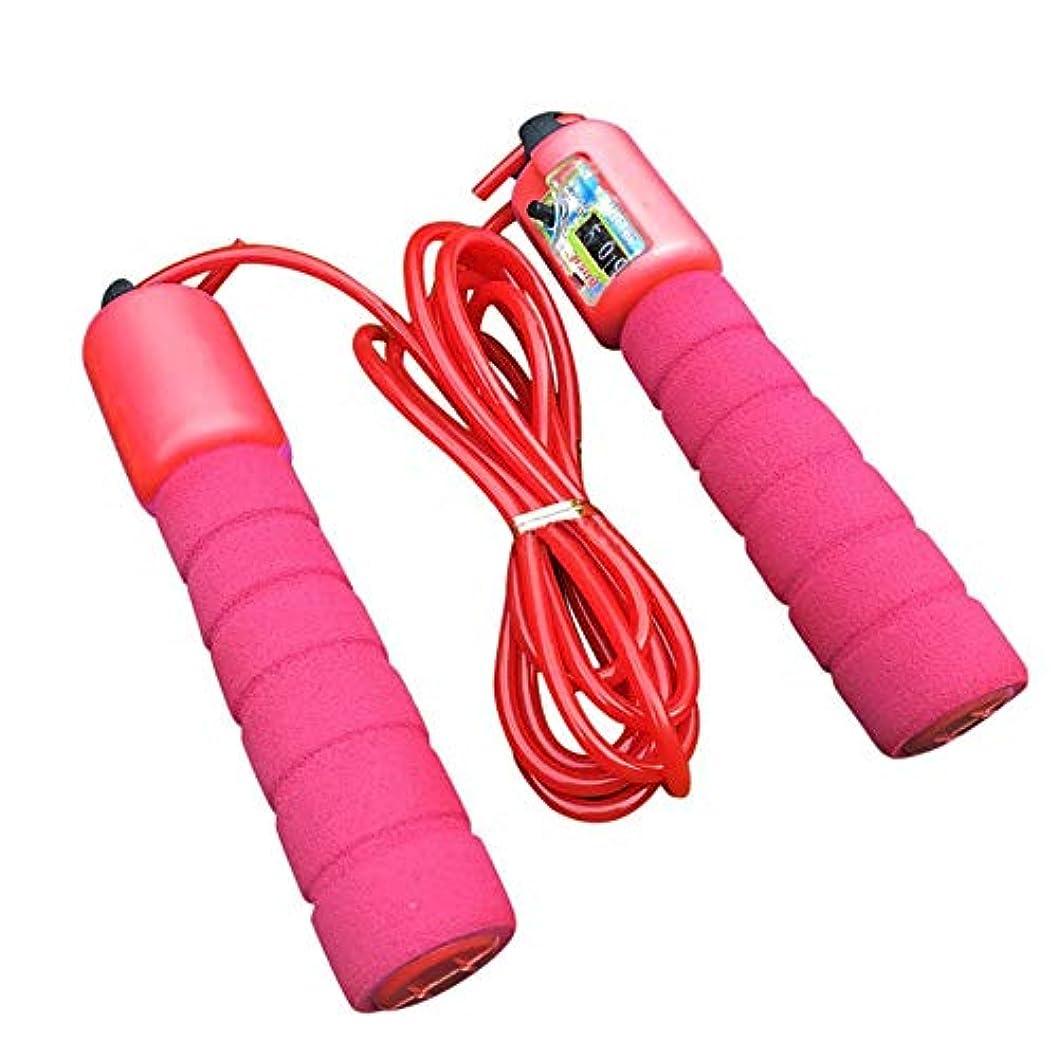 テロリスト雷雨発送調整可能なプロフェッショナルカウント縄跳び自動カウントジャンプロープフィットネス運動高速カウントジャンプロープ - 赤