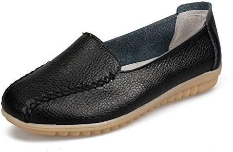 Classic Classic Classic Women's Leather Loafers Shoes Slip-On Shoe Nurse Shoes Casual Moccasin Driving Shoes Flat Slippers e5401d