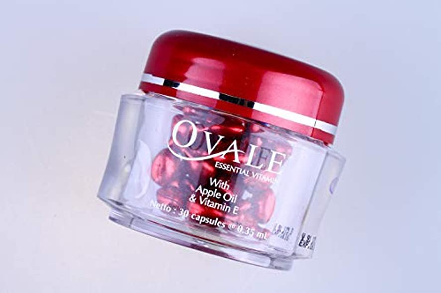 二週間ダブル臭いOvale オーバル フェイシャル美容液 essential vitamin エッセンシャルビタミン 30粒入ボトル アップル [海外直送品]