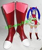 COSPATIO 13 FAIRY TAIL フェアリーテイル ウェンディ·マーベル Wendy Marvell コスプレ靴 cosplay コス 靴 ブーツ 下駄 ハイヒール シューズ (24cm)