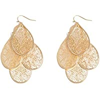 Colette Hayman - Filigree Layer Drop Statement Earrings