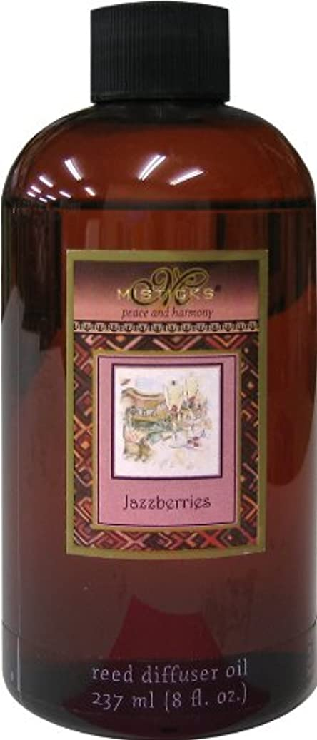 完全に利用可能著者Misticks リードディフューザー リフィル Jazzberries ジャズベリー 237ml