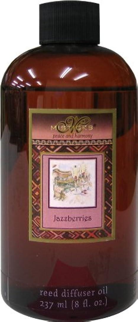 ニコチンスケッチ骨折Misticks リードディフューザー リフィル Jazzberries ジャズベリー 237ml