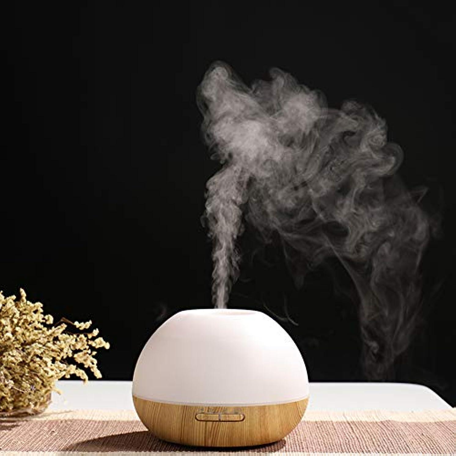 メタルラインコンプライアンス入植者涼しい霧の加湿器、アロマエッセンシャルオイルディフューザー、超音波木材穀物オプションの色変更光は、広い部屋のための理想的な,Lightbrown
