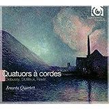 ドビュッシー:弦楽四重奏曲 ト短調 op.10、デュティユー:「夜はかくの如し」(弦楽四重奏のための)、ラヴェル:弦楽四重奏曲 ヘ長調 (Debussy& Ravel: String Quartets/ Arcanto Quartett) 画像