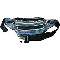 Quenchy London Men's Bumbag Fashion Waist Pack Money Belt Hippy Tribal Style Bum Bag for Music Concerts, Carnivals, Festivals & Travel Holidays - Ql700
