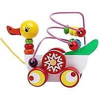 アヒルの子トレーラー玩具,SODIAL(R)子供アヒルの子トレーラーミニビーズの周り赤ちゃんのおもちゃ