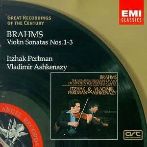 Great Recordings Of The Century - Brahms: Violin Sonatas nos 1 - 3 / Perlman, Ashkenazy