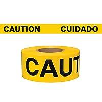 Swanson BT3100YCAUE / S3 3インチ1000フィート3-MILバリケードテープで注意英語/スペイン語イエロー/ブラックを印刷して