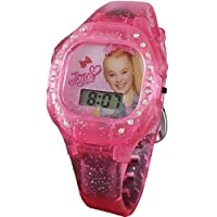 JoJo Siwa Little Girl's Pink Digital Light up Glitter Watch