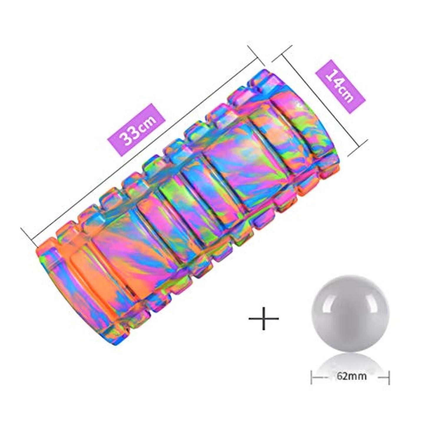 振る舞い夕食を食べるカルシウムフォームローラー 2-in-1強力フォームローラーとマッサージボール中密度のティッシュペーパーで筋肉マッサージと筋筋膜のトリガーポイントを解除,Purple