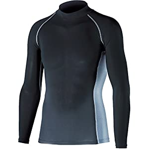 おたふく手袋 ボディータフネス 冷感・消臭 パワーストレッチ 長袖ハイネックシャツ JW-625 ブラック M