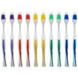 100 Toothbrush Standard Classic Medium Soft Individually wrapped