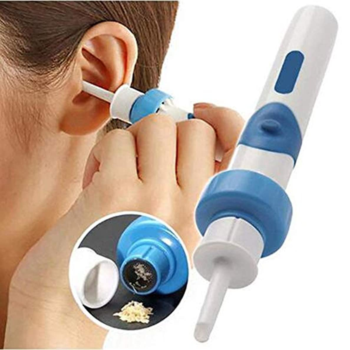巻き戻すありがたい嫌がるProtable真空耳クリーナーマシン電子クリーニングの耳垢が耳かきクリーナーを防ぐ耳ピッククリーンツールケアを削除します。