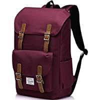 Vaschy Casual Vintage Water-Resistant Hiking Camping Daypack Travel School Backpack