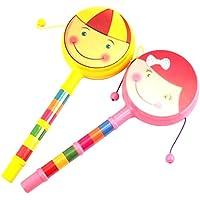 Havenport赤ちゃんのおもちゃ、赤ちゃん両面プラスチックRattleドラム、中国Rattleドラムwith Cute Face