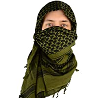 Mato & Hash Military Shemagh Tactical Desert 100% Cotton Keffiyeh Scarf Wrap
